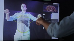 Kinect for Interactive AR Anatomy Learning